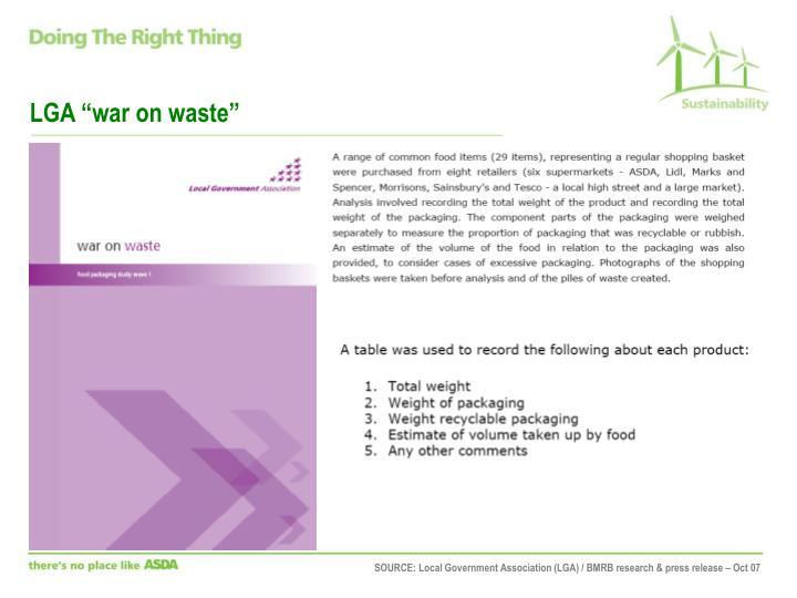 "LGA ""war on waste"""