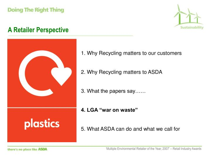 A Retailer Perspective