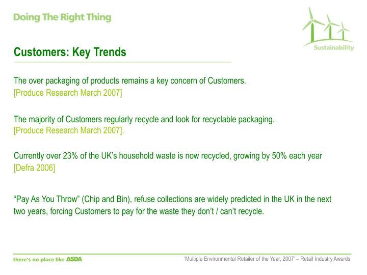 Customers: Key Trends
