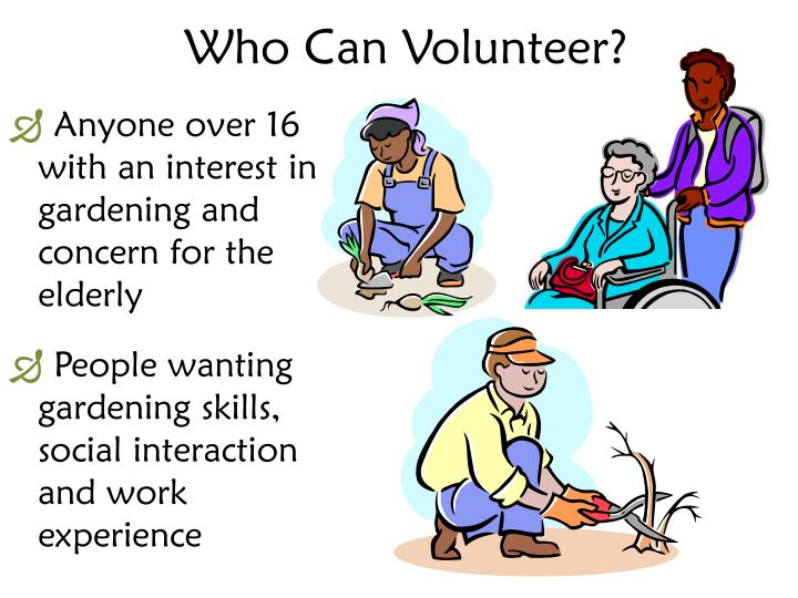 Who Can Volunteer?
