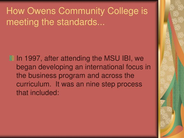 In 1997, after attending the MSU IBI, we began developing an international focus in the business program and across the curriculum.  It was an nine step process that included: