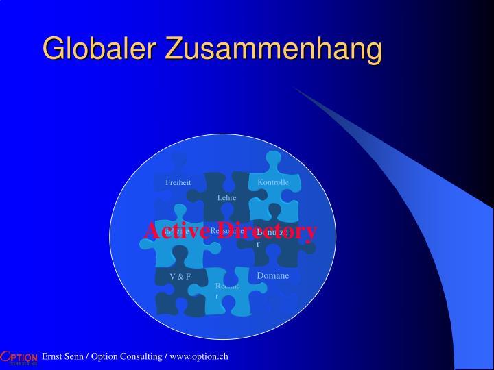 Globaler Zusammenhang