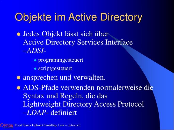 Objekte im Active Directory