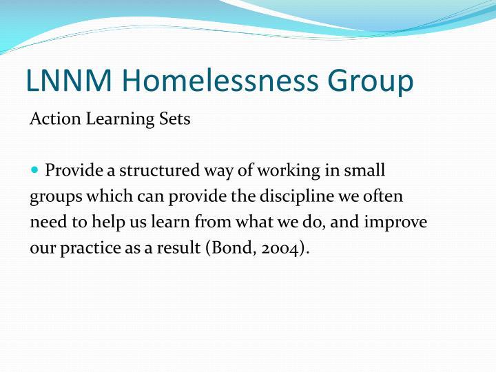 LNNM Homelessness Group