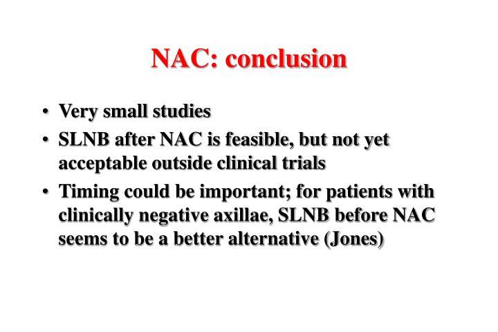 NAC: conclusion
