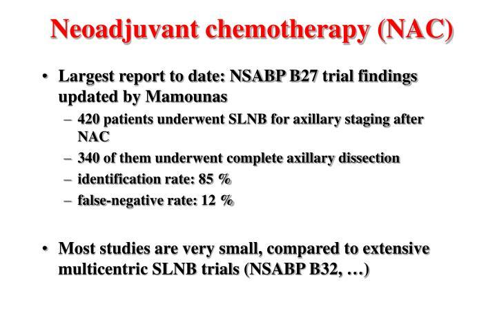 Neoadjuvant chemotherapy (NAC)