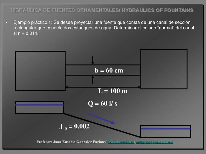 b = 60 cm