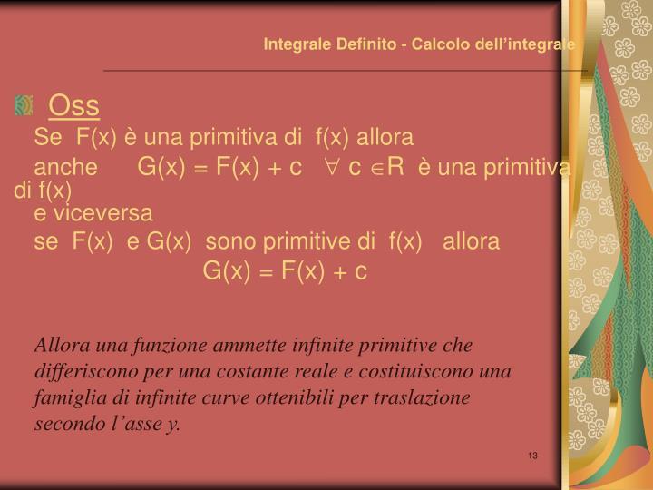 Integrale Definito - Calcolo dell'integrale