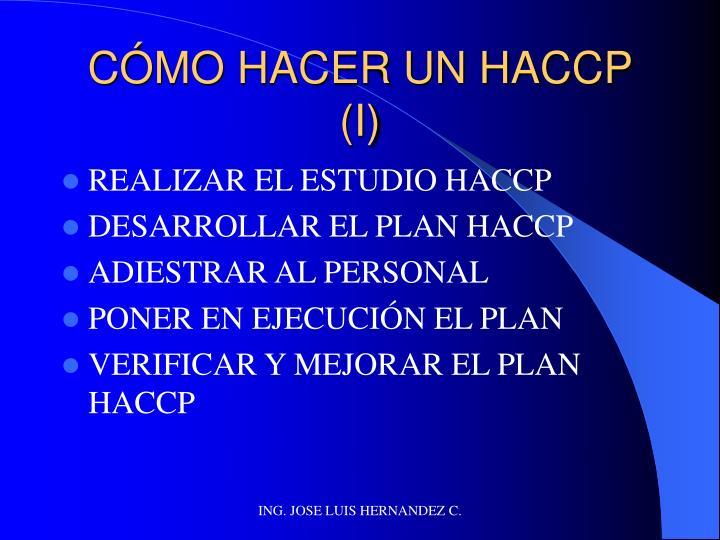 CÓMO HACER UN HACCP (I)