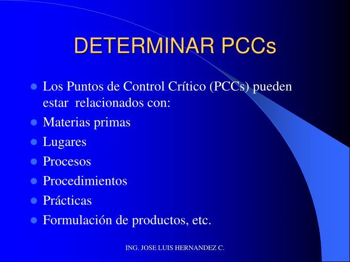 DETERMINAR PCCs