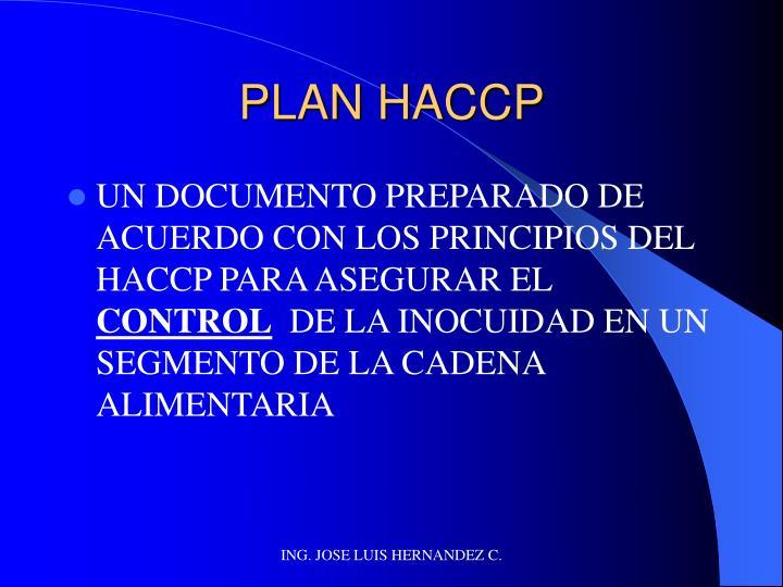 PLAN HACCP