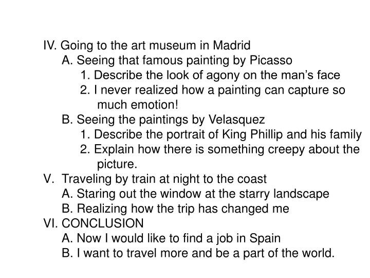 IV. Going to the art museum in Madrid