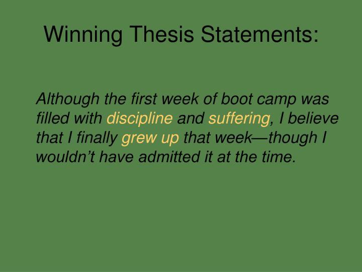 Winning Thesis Statements: