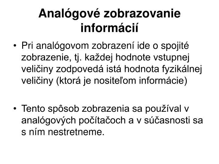 Analógové zobrazovanie informácií