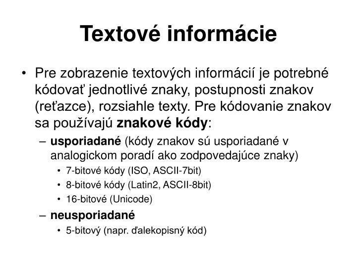 Textové informácie