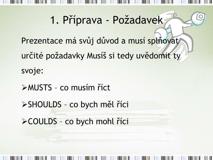 1. Příprava - Požadavek