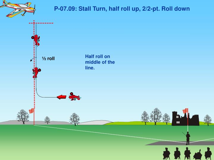 P-07.09: Stall Turn, half roll up, 2/2-pt. Roll down