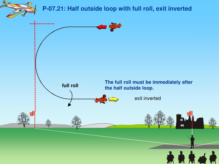 P-07.21: Half outside loop with full roll, exit inverted