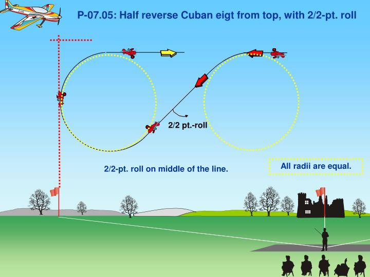 P-07.05: Half reverse Cuban eigt from top, with 2/2-pt. roll