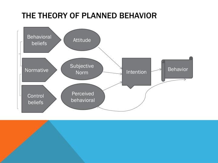 the theory of planned behavior Most assume that our attitudes determine our behavior however, according to the theory of planned behavior, there is more to predicting behavior.