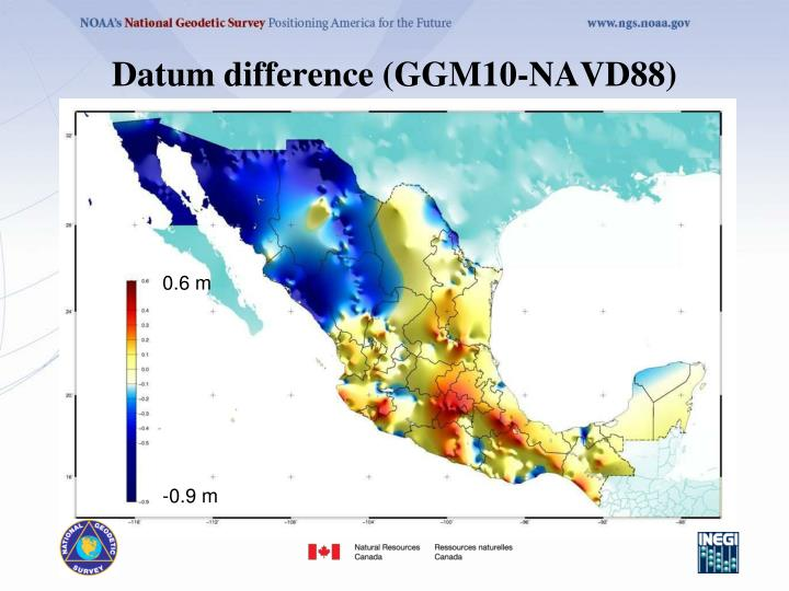 Datum difference (GGM10-NAVD88)