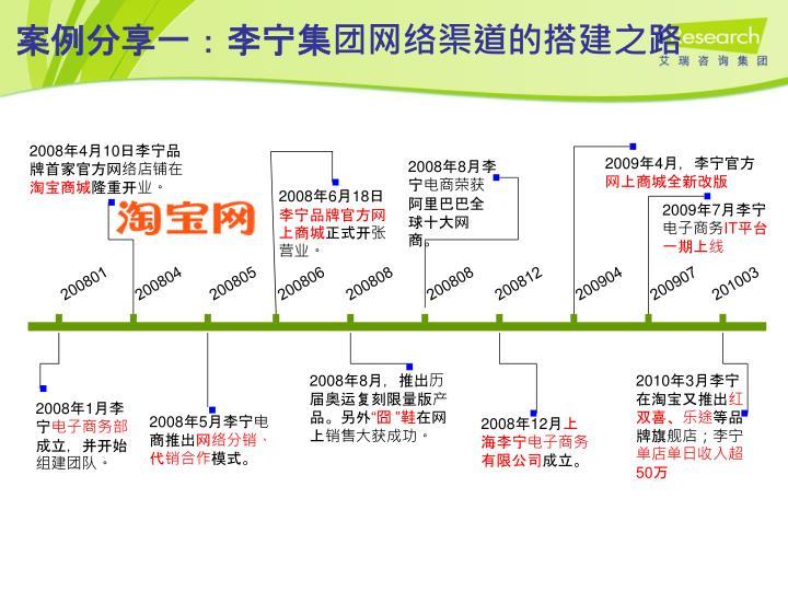 案例分享一:李宁集团网络渠道的搭建之路