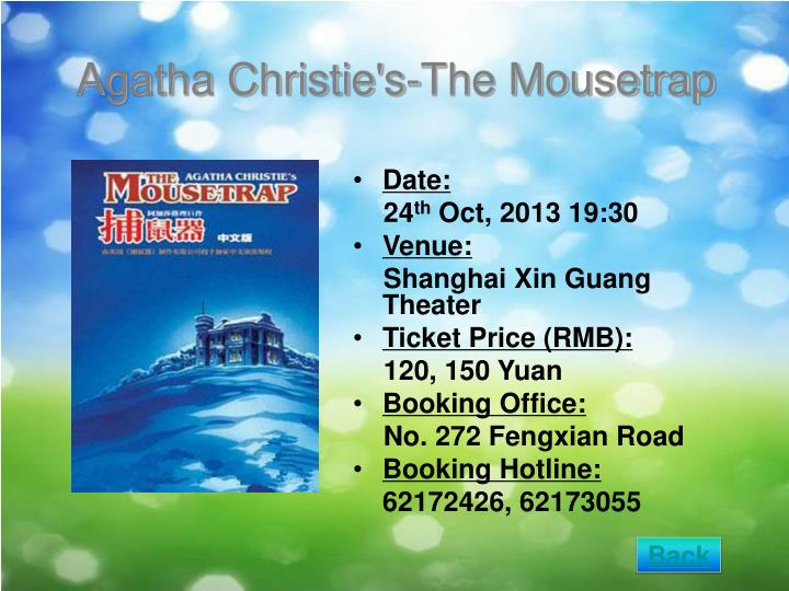Agatha Christie's-The Mousetrap
