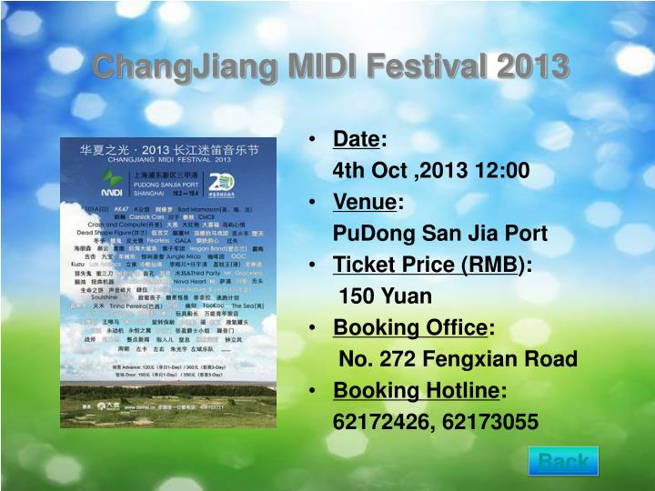 ChangJiang MIDI Festival 2013