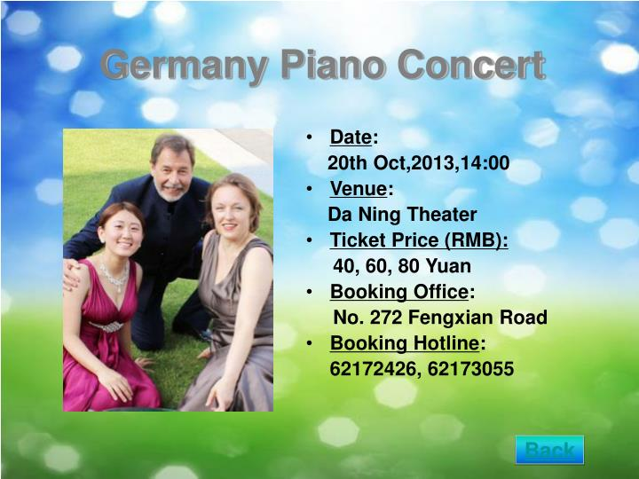 Germany Piano Concert