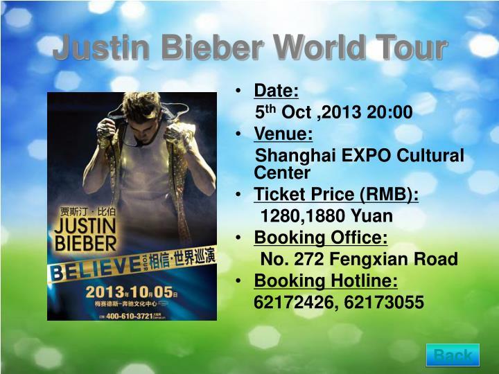 Justin Bieber World Tour