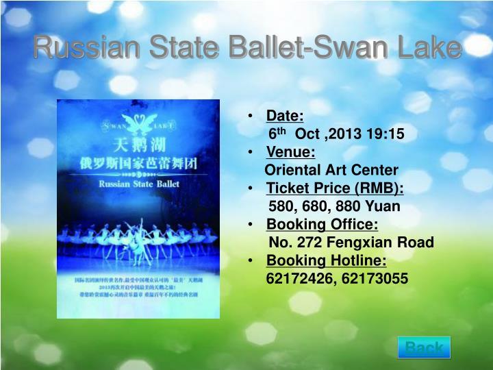 Russian State Ballet-Swan Lake