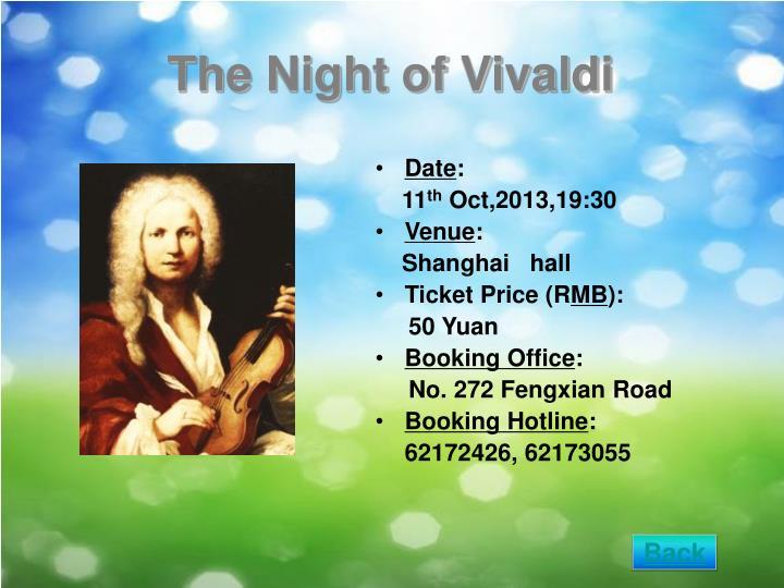 The Night of Vivaldi
