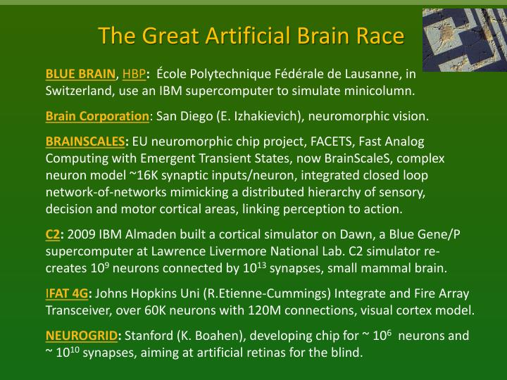 The Great Artificial Brain Race