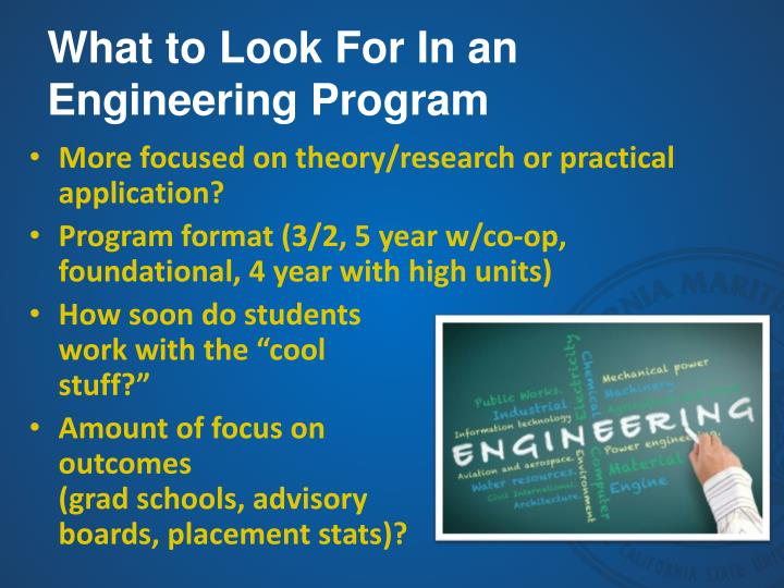 What to Look For In an Engineering Program