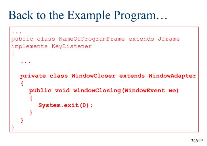 Back to the Example Program…