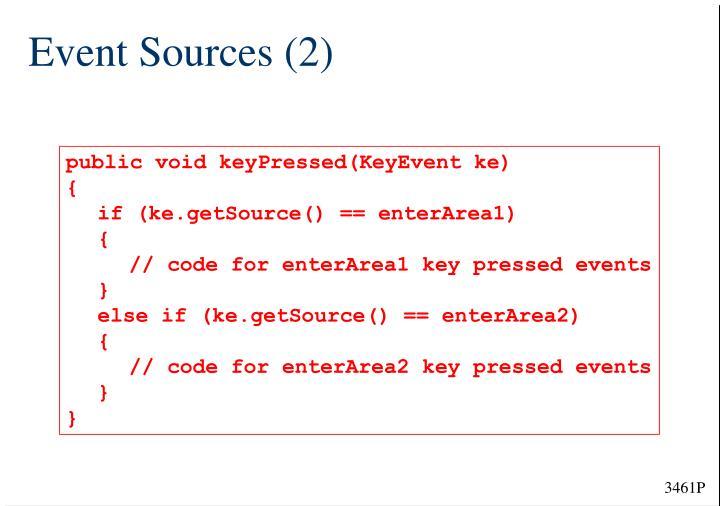 Event Sources (2)