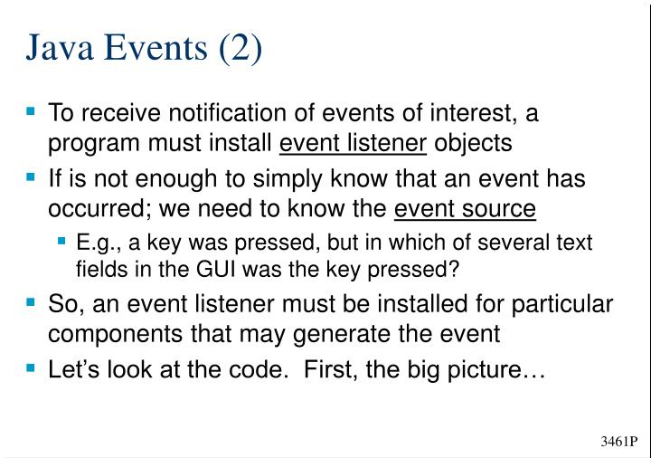 Java Events (2)