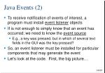 java events 2