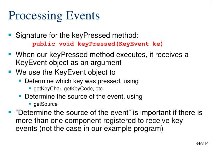 Processing Events