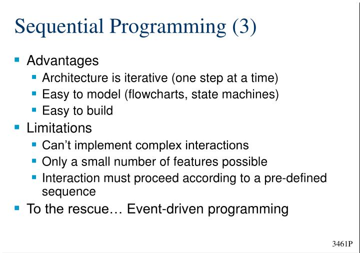Sequential Programming (3)