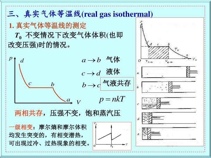 三、真实气体等温线