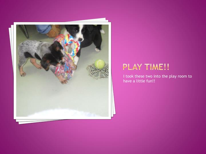 Play time!!