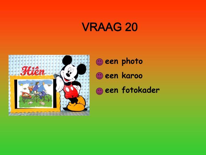 VRAAG 20