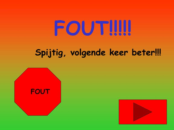 FOUT!!!!!