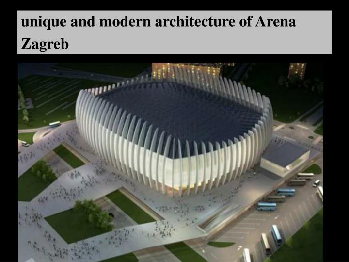 unique and modern architecture of Arena Zagreb