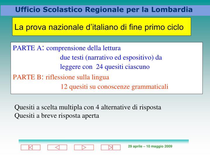 La prova nazionale d'italiano di fine primo ciclo