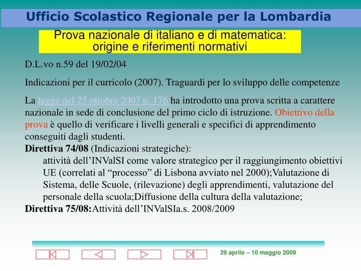 Prova nazionale di italiano e di matematica:
