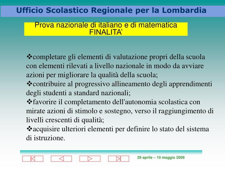 Prova nazionale di italiano e di matematica