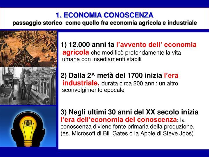 1. ECONOMIA CONOSCENZA
