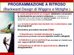 programmazione a ritroso backward design di wiggins e mctighe